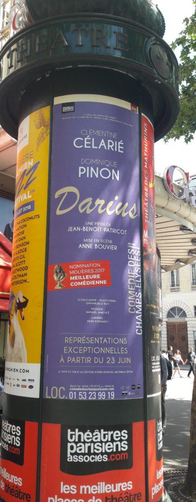 colonne Morris Darius Comédie des Champs Elysées
