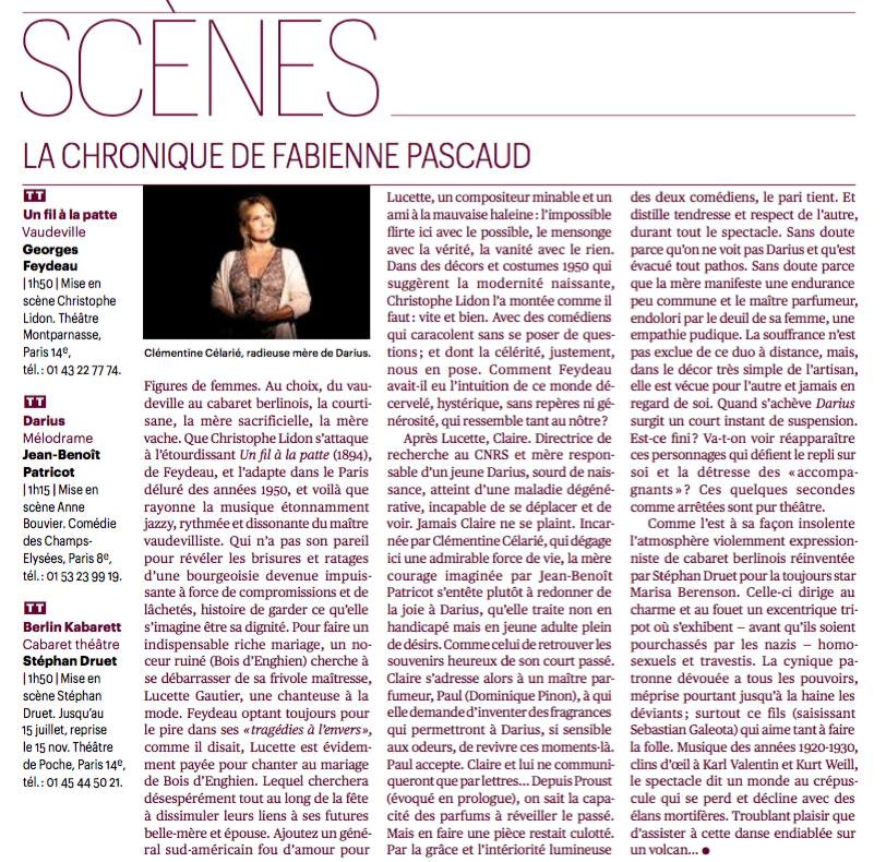 critique télérama Fabienne Pascaud